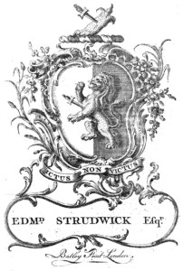Bookplate of Edmund Strudwick of East Bradenham
